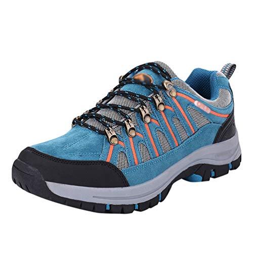 Yuanu Herren Im Freien Wandernde Schuhe Bequeme Wasserdichte Freizeitschuhe Mit Frühlings- Und Herbstsportschuhen See blau 43