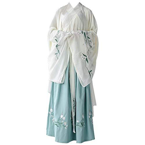Susichou Hanfu chinesischen Stil mit großen Ärmeln Shirt Alltagskostüm Performance Kostüm Fee Kostüm (M) (Fee Männliche Kostüm)