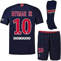 maillot Neymar PSG 2018-2019 T 10 Ans 140 CM Environ Superbe Ensemble avec Short et Chaussettes modele Répliqua autorisée