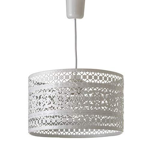 Lámpara de Techo provenzal Blanca de Metal para la Entrada France - LOLAhome
