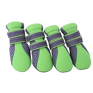UEETEK Été Chaussettes respirantes à petites chiennes Chaussures à neige sans pate à laine Taille unique L-2.1 * 1,6 pouce (L * W)