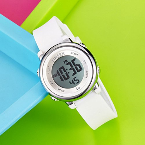 060a444228a7 PIXNOR Chicas de múltiples funciones resistente al agua luz de fondo  pantalla cuarzo reloj deportivo OHSEN niños mujeres