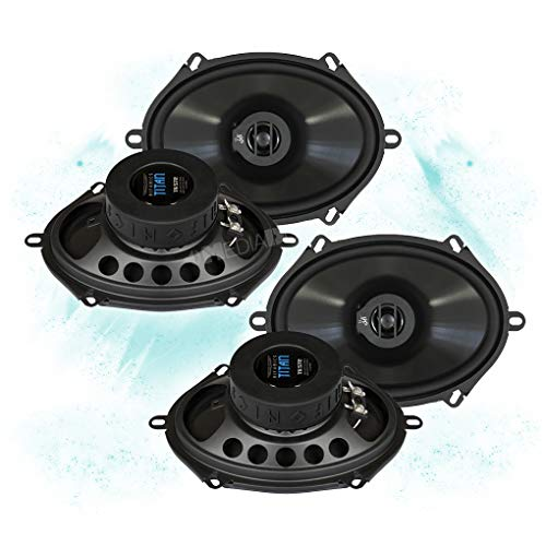 HIFONICS Front/Heck 5x7/15x20cm Auto Lautsprecher/Boxen/Speaker Komplett-Set für Mazda