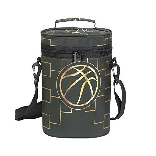 Ahomy Weintasche Basketball Turnierhalterung für 2 Flaschen, isoliert, Kühler - Personalisierte Wein-kühler
