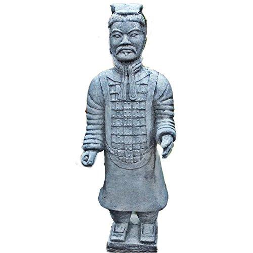 Steinfigur Chinesischer Terrakotta Krieger Soldat Steinguss Frostfrei Gartenfigur