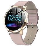 CF18 reloj inteligente con pantalla a color, resistente al agua, monitor de ritmo cardíaco y presión arterial, para hombres y mujeres, reloj deportivo inteligente para exteriores con Android e iOS