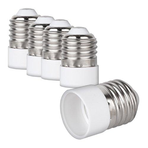 kwmobile 4x Lampensockel Adapter Konverter E27 Fassung auf E14 Lampensockel für LED-, Halogen-, Energiespar Lampen
