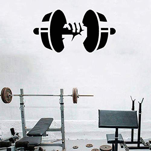 JXTK Einhand Gewichtheben Hantel geschnitzt abnehmbare Persönlichkeit Wandaufkleber Wohnzimmer Schlafzimmer Wand 42x21cm