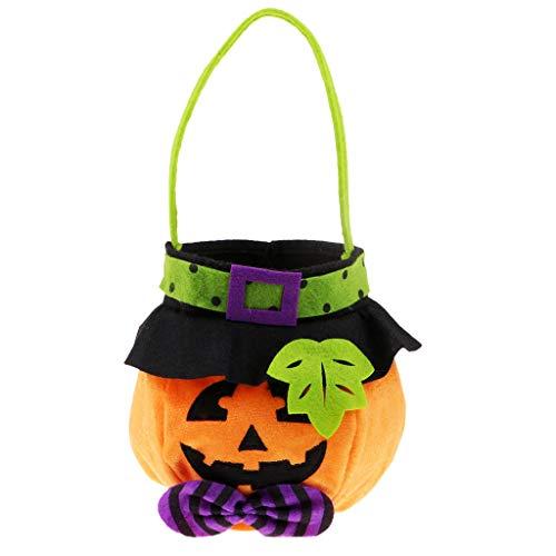 KESOTO Halloween Niedliche Kürbis Süßigkeiten Tasche Beutel Süßigkeitstasche Kinder