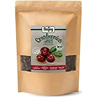 Biojoy Arándanos rojos BÍO | arándanos rojos secos sin azúcar | calidad premium de agricultura ecológica | dulzura de fruta natural del jugo de manzana denso | Vaccinium macrocarpon (1 kg)