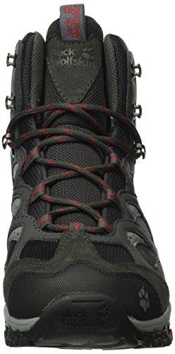 Jack Wolfskin Damen Mountain Storm Texapore Mid Trekking-& Wanderstiefel Schwarz (RACING RED 2051)