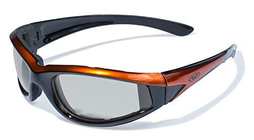 Global Vision Eyewear 24Hawkeye Serie mit Orange Rahmen und klar PHOTOCHROME Linsen