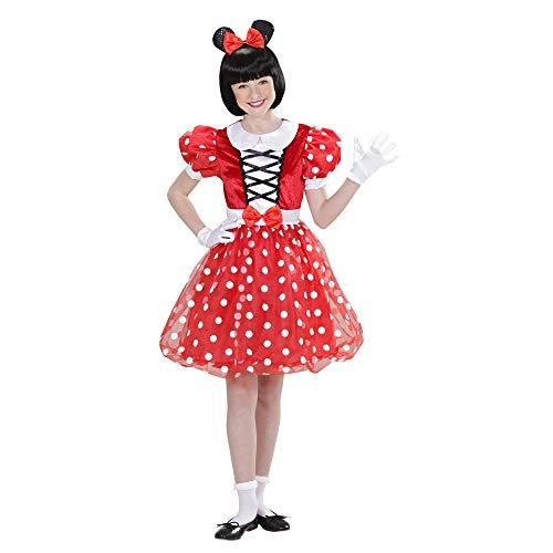 Widmann 01546 - Kinderkostüm Mäuschen, Kleid und Ohren (Magic Mickey Mouse Kostüm)
