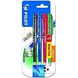 Pilot 2264B3 / Frixion Point Lot de 3 stylos roller Noir/bleu/rouge + 1 stylo gratuit(aléatoire)- 0.5 mm - Rechargeable