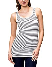 e401007ae618cb ONLY Damen Tank Top Basic Shirt Stretch O-Neck Print Longtop 15159176 Liva
