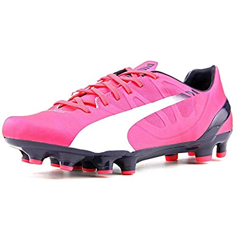 Puma evoSpeed 4.3 FG Jr Soccer Cleats Youth US 4.5 Pink Cleats