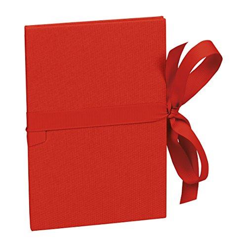 Leporello A5 rot +++ 6 Blatt hochwertige feste Seiten +++ EINKLEBE-FOTOBÜCHLEIN +++ Semikolon Qualität