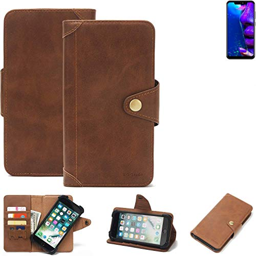 K-S-Trade® Handy Hülle Für Allview Soul X5 Pro Schutzhülle Walletcase Bookstyle Tasche Handyhülle Schutz Case Handytasche Wallet Flipcase Cover PU Braun (1x)