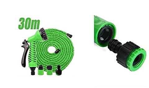 Gartenschlauch Flexibel 30 m. Wasserschlauch Hose Dehnbarer Multifunktionsbrause
