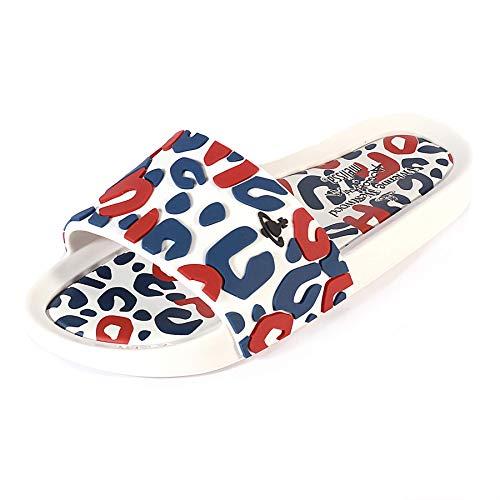a5eaf5b61 Melissa X Vivienne Westwood Women s Beach Slide Leopard White  Contrast-White-8 Size 8
