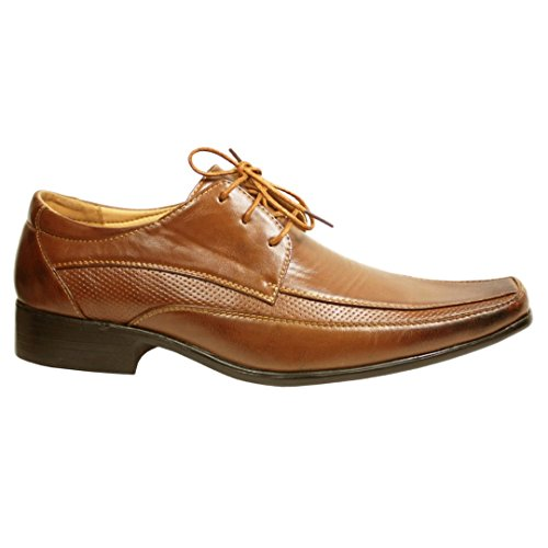 MYSHOESTORE  Italian Shoes, Bottes de moto homme Tan / Lace Up