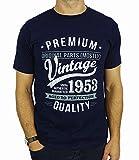 1953 Vintage Year - Aged To Perfection - 65. Geburtstag geschenk T-Shirt für Herren Marineblau L