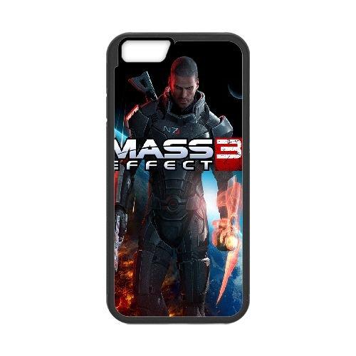 Commander Shepard Mass Effect 3 3 coque iPhone 6 Plus 5.5 Inch Housse téléphone Noir de couverture de cas coque EBDXJKNBO16923