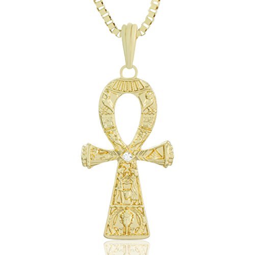 diamond round shop gold jewelry yellow pendants mens natural egyptian pendant