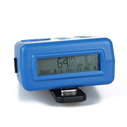 Corneliaa-DE Wettbewerbselektronik Pocket Pro II Shot Timer mit Sensor Summer Piepser Hunter Training Shooting Timer Geschwindigkeitsmessungen -