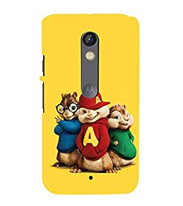 printtech Chipmunks Cartoon Squirrel Back Case Cover for Motoroal Moto X Play