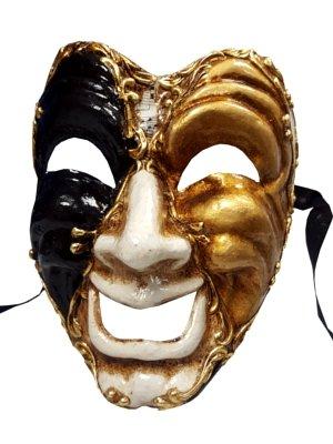 'Happy Face Theater Volto Full Face Masquerade venezianische Maske