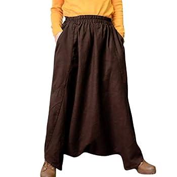 POTTOA Pantalon Femme, Sarouel Yoga Festival Baggy Boho Pantalon Rétro Pantalon Gypsy Mode-Pantalon Fluide Femme,Pantalon Crayon Femme,Legging Femme Taille Haute Slim Trousers