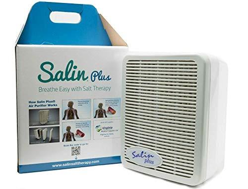 Salin Plus - Natursalz Luftfiltersystem, Salzlufttherapie Gerät, Pollenfilter, Staubfilter, Luftreiniger