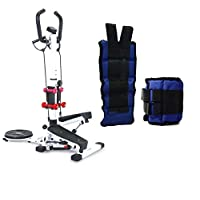 Stepper 4 in 1, white, QN-B307-1, Weighting sand bag for Exercise - 5 Kg