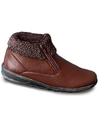 Chums Damen Handgefertigte Echtes Leder Warm Twin Stiefel mit Reißverschluss gefuttert O0JxJsDF