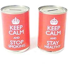 Dejar de fumar pequeño novedad caja lata Hucha de ahorro de dinero efectivo puede Xmas regalo