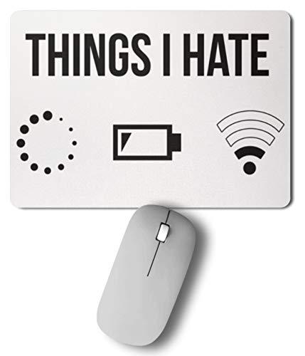 PlimPlom Things I Hate Lustige Programmierer Computer Informatiker Geschenkidee - Mousepad -27cm x 19cm-