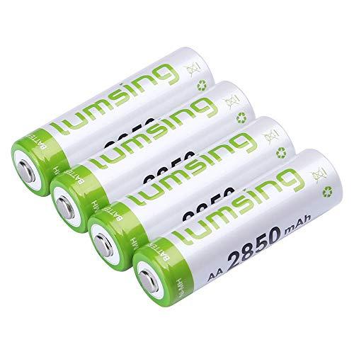 Lumsing 4 Pack AA Akku 2850mAh NI-MH Wiederaufladbare Batterien Mit Batterie