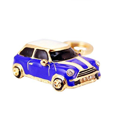 VORCOOL Schlüsselanhänger Glas Modell Mini Cooper Schlüsselanhänger Metall Anhänger Deep-Damen-Handtasche blau