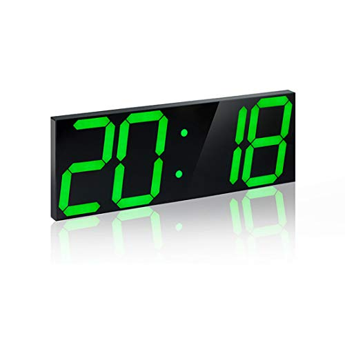 Fernbedienung Digital Led Wall Clock, Minute-Alarmuhr, Countdown-Timer mit  Remote Control Temperaturdate-Terminkalender Thermometer, Mute Clock für