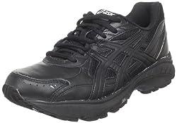 ASICS Womens Gel-Foundation Walking Shoe Black/Black/Silver 6 B(M) US