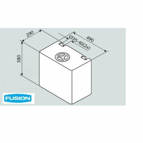 Fusion Wassertank 50 Liter EV 1004