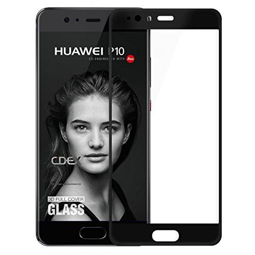 Huawei P10 Panzer Glasfolie , doupi 3D FullCover Premium 9H Hartglas HD Displayschutz Anti Kratzer Schutzfolie, schwarz Digitaler Bilderrahmen Samsung