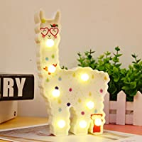 Llama Night Light Kids Gifts Alpaca Lights Wall Decoration for Girls Room,Bedside,Home