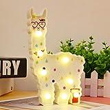 Llama Nachtlicht für Kinder, Alpaka-Lichter, Wanddekoration für Mädchenzimmer, Nachttisch, Zuhause White Llama Love