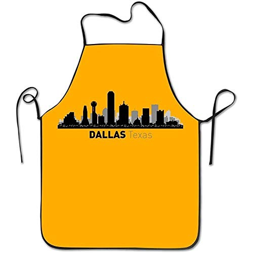 best pillow Dallas Texas City Silhouette Skyline Waterproof Funny Aprons