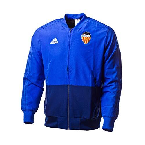 adidas Chaqueta Valencia CF Prematch 2018-2019 Bold Blue-Dark Blue-White