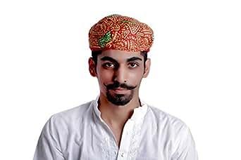... TRADITIONAL INDIAN MEN HAT ROYAL RAJASTHANI PAGHADI TURBAN SAFA PAG  WEDDING 0ecf354fe