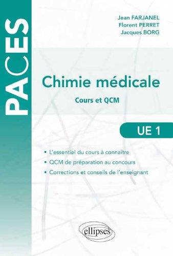 Chimie Médicale Cours & QCM UE1