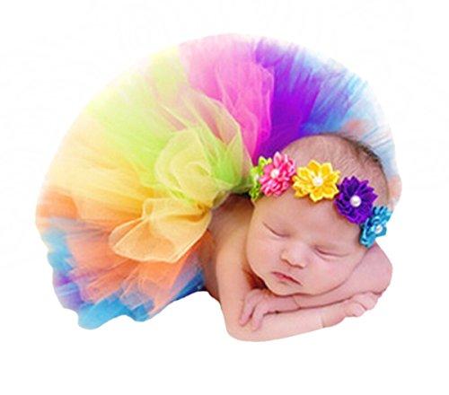 Kleid Kostüme Cherry (Happy Cherry Baby Foto Kostüm (Rock+ Stirnband) Bekleidungsset Kostüm für neugeborene Mädchen Rock Tutu Kleidung Prop Outfits Bekleidung Set-0-3)